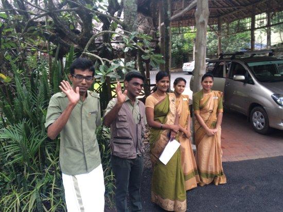 Spice Village: Staff bidding us farewell