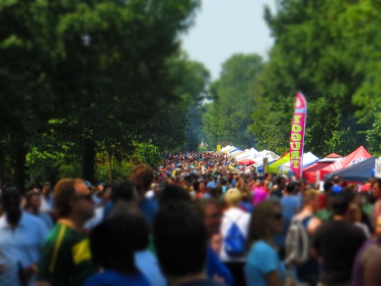 Festival of Nations - Tower Grove Park - Main Walkway of Food Booths