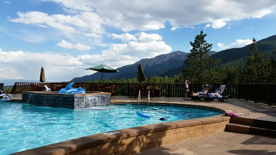 Young Life's Trail West Lodge: view from pool deck