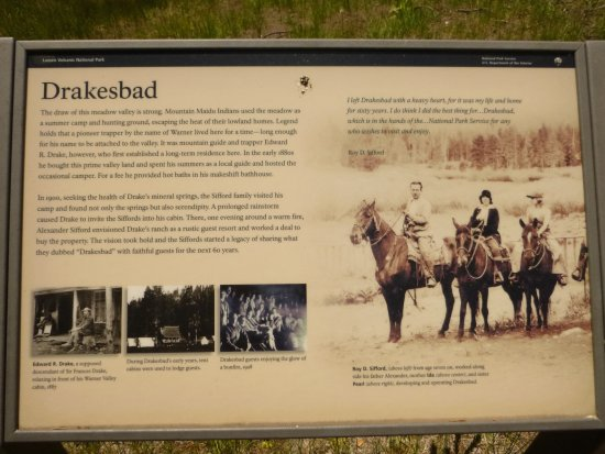 Drakesbad Guest Ranch: History plaque