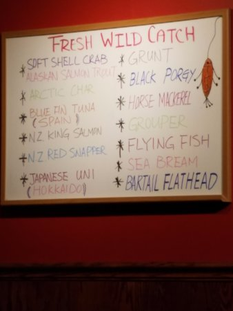 Bernardsville, NJ: Wild Catch white board
