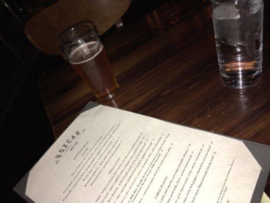 Boxcar Restaurant and Bar: Very nice restaurant very nice menu