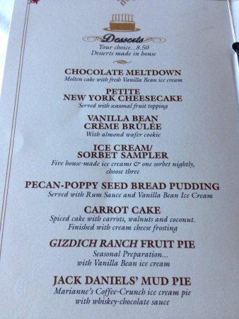 Capitola, CA: Dessert menu