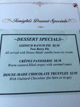 Capitola, CA: Dessert Specials