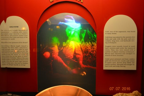 Placer County Historical Museum: Holographic Depiction of a miner in action during the mid 19th century.