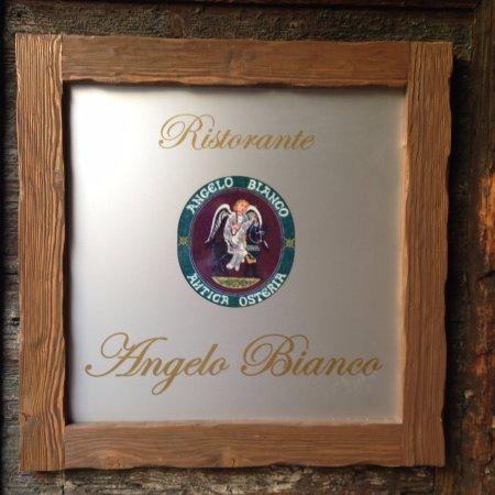 Antica Osteria dell'Angelo Bianco : Insegna