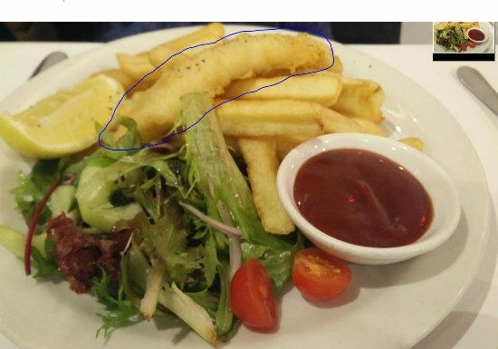 Bucatini Restaurant & Bar: Fish and Chips with one piece of fish