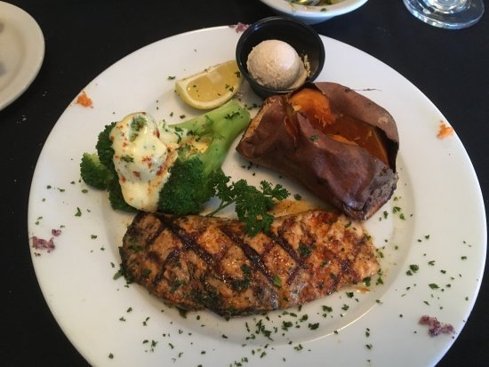 Salmon dinner from early dining menu picture of - Early american cuisine ...