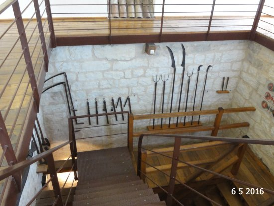 Pazin, Croatia: A selection of weaponry in the main keep