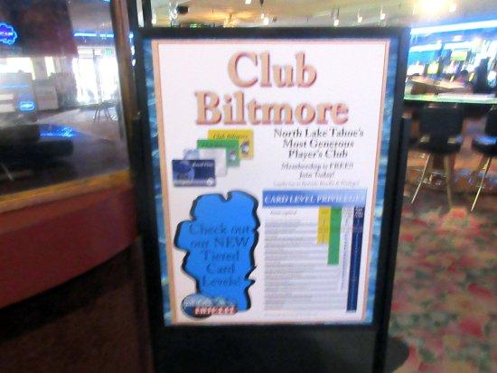 Tahoe Biltmore Lodge: Casino Club,, Tahoe Bilt,ore Lodge, Crystal Bay, Nevada