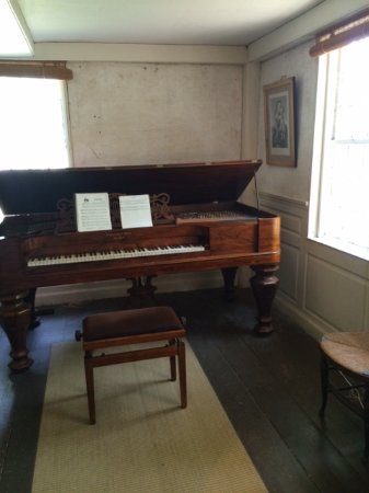 The Old Manse : very rare and fully functioning piano in the parlour