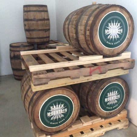 Morrisville, VT: Vodka barrels