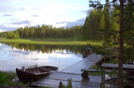 Arjeplog, Sverige: Boat in lake