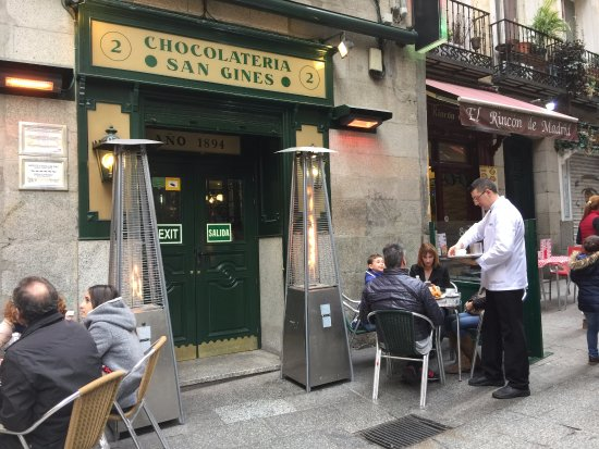 Chocolateria San Gines Tables Outside The Cafeteria