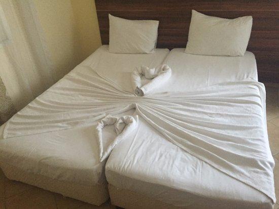 Kassandra Hotel: Łózka w pokoju 316