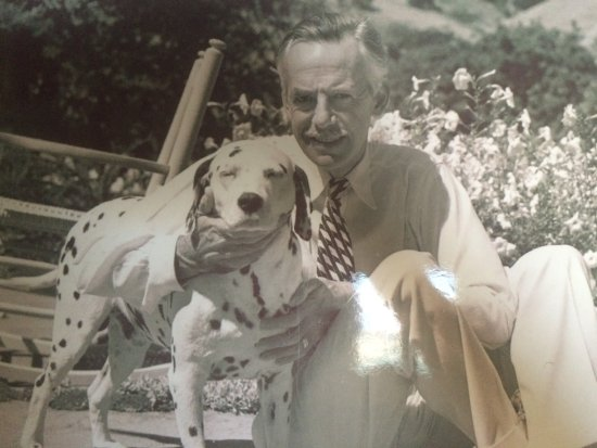 Danville, Kalifornia: O'Neill with his dog