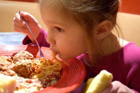 Pizza Man: She loves her pasta!