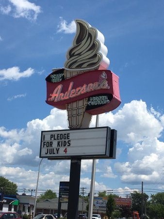 Kenmore, NY: Anderson's sign