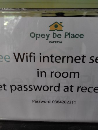 Opey de Place Hotel: wifi hotel