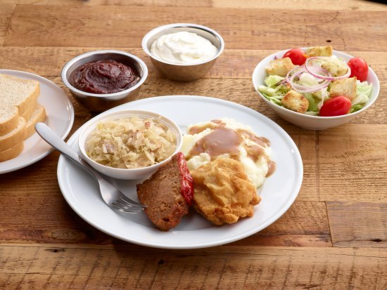 Good 'N Plenty Restaurant: Our World Famous Fried Chicken – Your choice of two pieces of white or dark chicken with your ch
