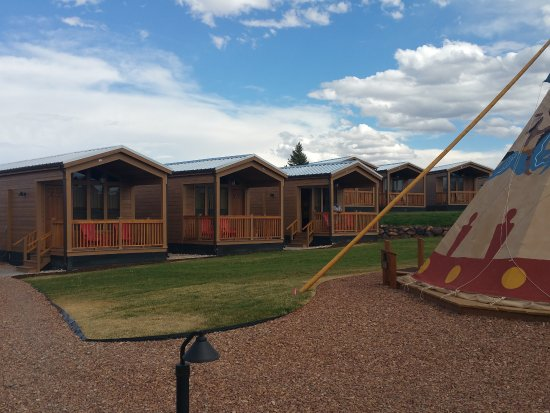 View of our cabin from teepee area picture of capitol for Torrey utah lodging cabins