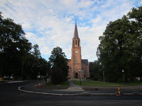 Hotel Fredrikstad: Domkirken ligger rett ovenfor hotellet