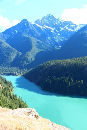 North Cascades Highway: Diablo Lake overlook