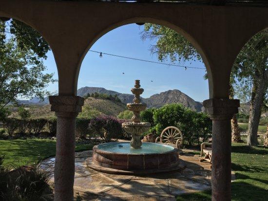 Lajitas Golf Resort: View from inside the restaurant