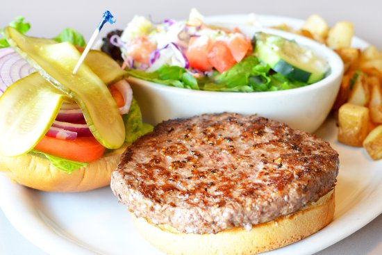Egg Harbor Cafe: Grass-Fed Angus Beef Burger