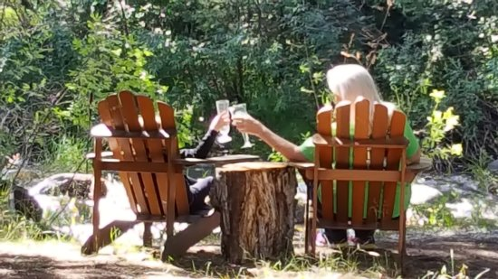 O-Bar-O Cabins: lazy day by the river with my granddaughter