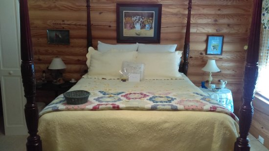 Valle Crucis, Carolina del Norte: Queen Bed in the Bird Room