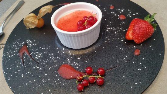 Groot-Bijgaarden, Βέλγιο: Dessert: panna cotta