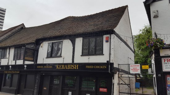 ‪‪Coventry‬, UK: Kebabs in Spoon street housed in Tudor building‬
