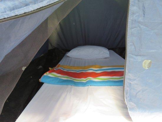 Sumbiling Eco Village Mattress inside Tent & Mattress inside Tent - Picture of Sumbiling Eco Village Batang ...