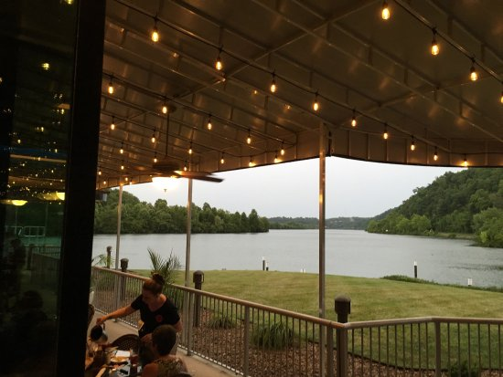 Calhouns opened June 2016 in Oak Ridge.  This place has the best dining views in the area.