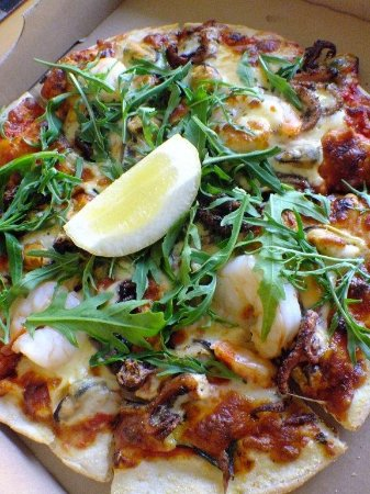 Dapto, Avustralya: Seafood pizza