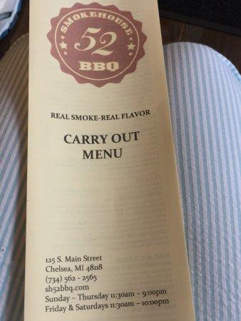 Chelsea, MI : restaurant info on bottom