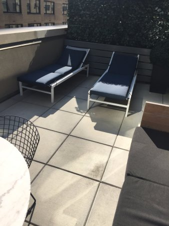 6 Columbus - A SIXTY Hotel: Private terrace off our room (104