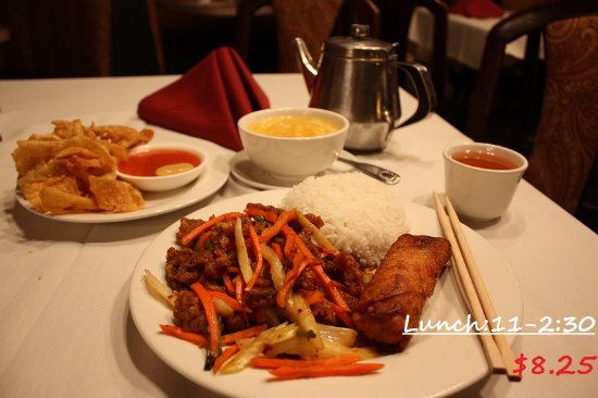Mandarin House: Mon-Friday : 11am-2:30pm lunch special