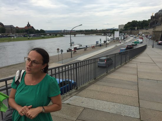 DresdenWalks: A view of the Elbe with Katarina.