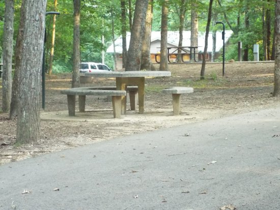 Chapel Hill, TN: many of the picnic tables were cement