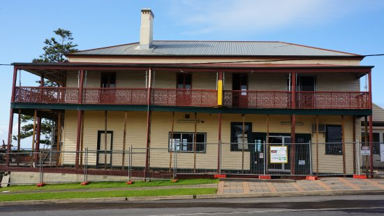 Tathra Hotel currently undergoing renovations, reopening late 2016. Photo taken July 2016.