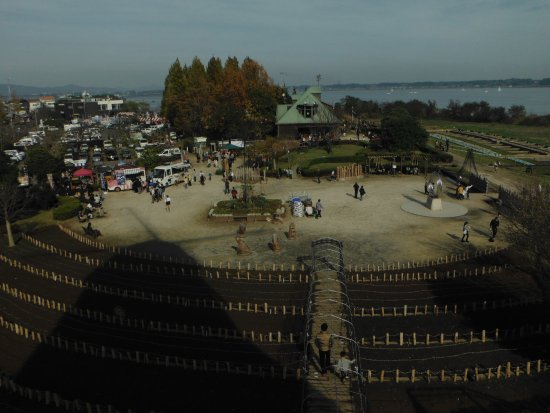 Tsuchiura, ญี่ปุ่น: 霞ヶ浦総合公園(風車からネイチャーセンター方面)