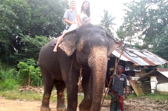 Bentota, Sri Lanka: Elephant Riding