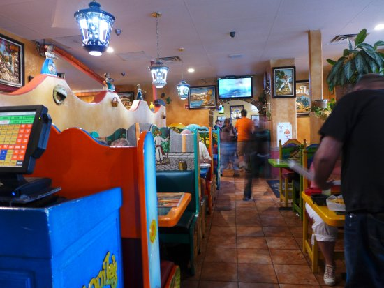 Bustling Servers at Las Tequilas Family Mexican Restaurant