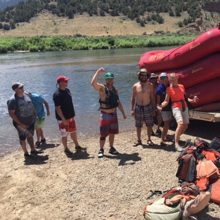 Fraser, CO: End of a successful rafting trip on Colorado River