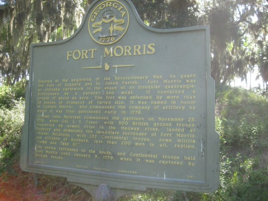 Fort Morris Historic Site : Informational sign
