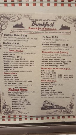 Cascade, ID: Breakfast Menu