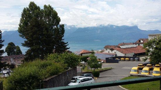 Jongny, Sveits: vue depuis la terrasse