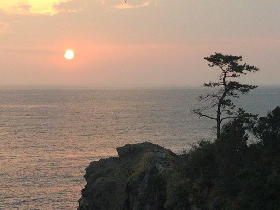 Gorinkan : 浮島海岸遊歩道からの夕日